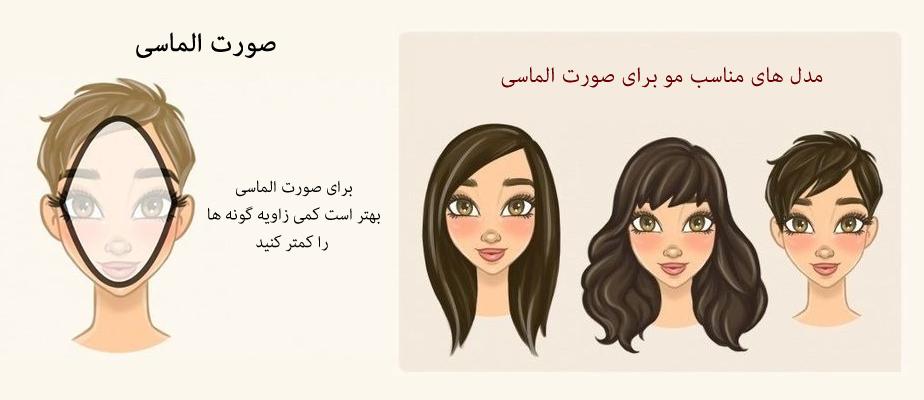 مدل مو برای صورت الماسی یا لوزی شکل