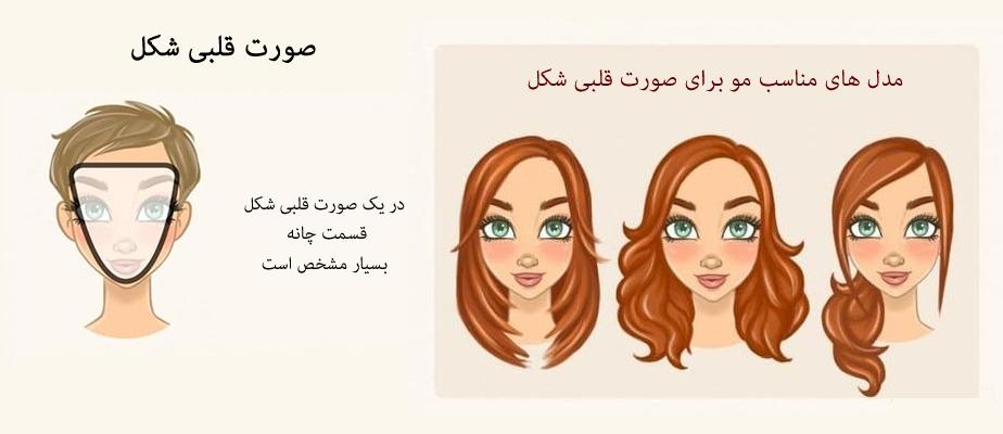 مدل مو برای صورت قلبی شکل